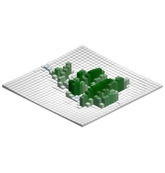 Isometric Graph vector image