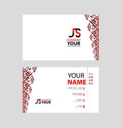 Js logo on red black business card vector
