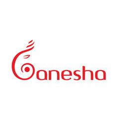 Letter g ganesha logo design vector