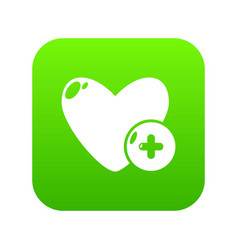 like icon green vector image