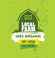 local farm organic fresh food market homegrown vector image