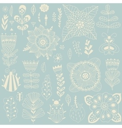 made of flowers and herbs vector image