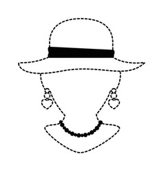 mannequin with elegant female hat and necklace vector image
