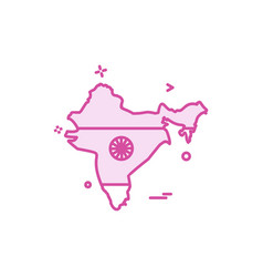 map india icon design vector image