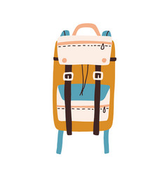 Modern colorful backpack with straps and pockets vector