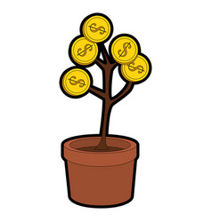 Money plant icon vector