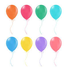 Multicolored helium balloons glossy and shiny air vector