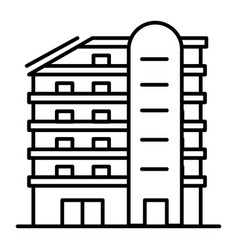 Multistory house thin line icon building vector