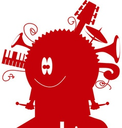 music monster vector image