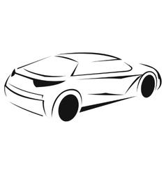 New car silhouette icon vector