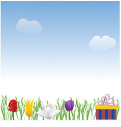 Nice day background vector