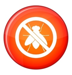 No fly sign icon flat style vector