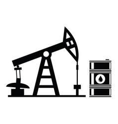 Oil pump and barrel icons vector