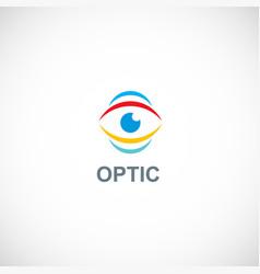optic eye monitor logo vector image
