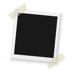 Photo frame mockup isolated vector