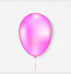 pink balloon realistic style vector image