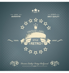 Premium Quality and Satisfaction Guarantee Label vector image