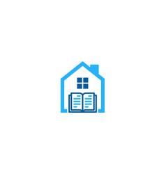 Real book logo icon design vector