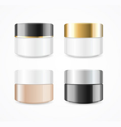 realistic cream can cosmetic product set vector image