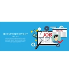 Recrutment Strategy Business Concept External and vector image