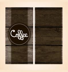 Restaurant menu design on wooden background vector