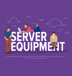 server equipment concept vector image