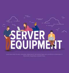Server equipment concept vector