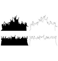 set of dancing celebrating people vector image