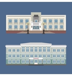 Set of two of vintage house vector image