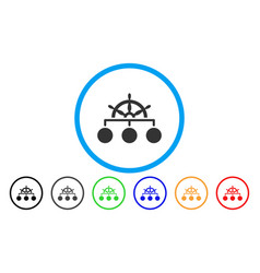 ship wheel hierarchy rounded icon vector image