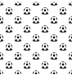 Soccer ball pattern simple style vector