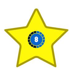 star shape videogame bar icon vector image