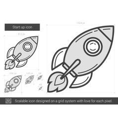 Start up line icon vector