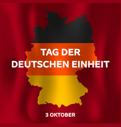 Tag der deutschen einheit concept background vector
