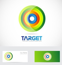 Target advertising logo vector