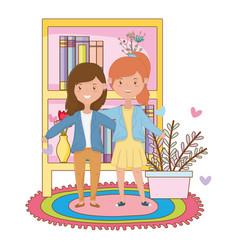 teenage friends design vector image