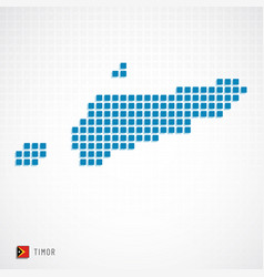 Timor map and flag icon vector