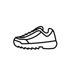 Trendy fashion sport shoe sneaker icon vector