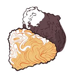 Truffle mushroom icon natural fresh gourmet vector