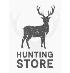 Vintage logo hunting and shooting store vector
