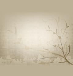 vintage ornamental old paper background vector image