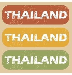 Vintage Thailand stamp set vector image