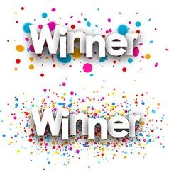 Winner paper banners vector image