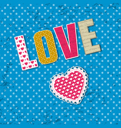 word love composition vector image