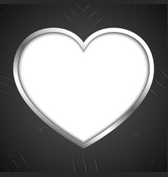 abstract love heart claw scratch metal plate vector image vector image