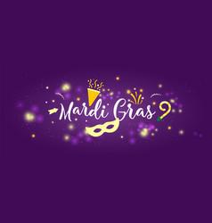 carnival mardi gras concept banner vector image