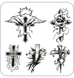 Christian symbols - vector image vector image