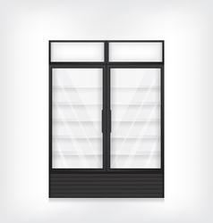 Commercial refrigerator with two door vector image vector image
