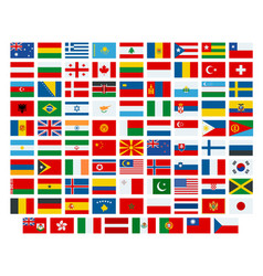 flags of the world flags of the vector image