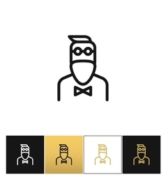 Hipster man fashion icon vector image vector image